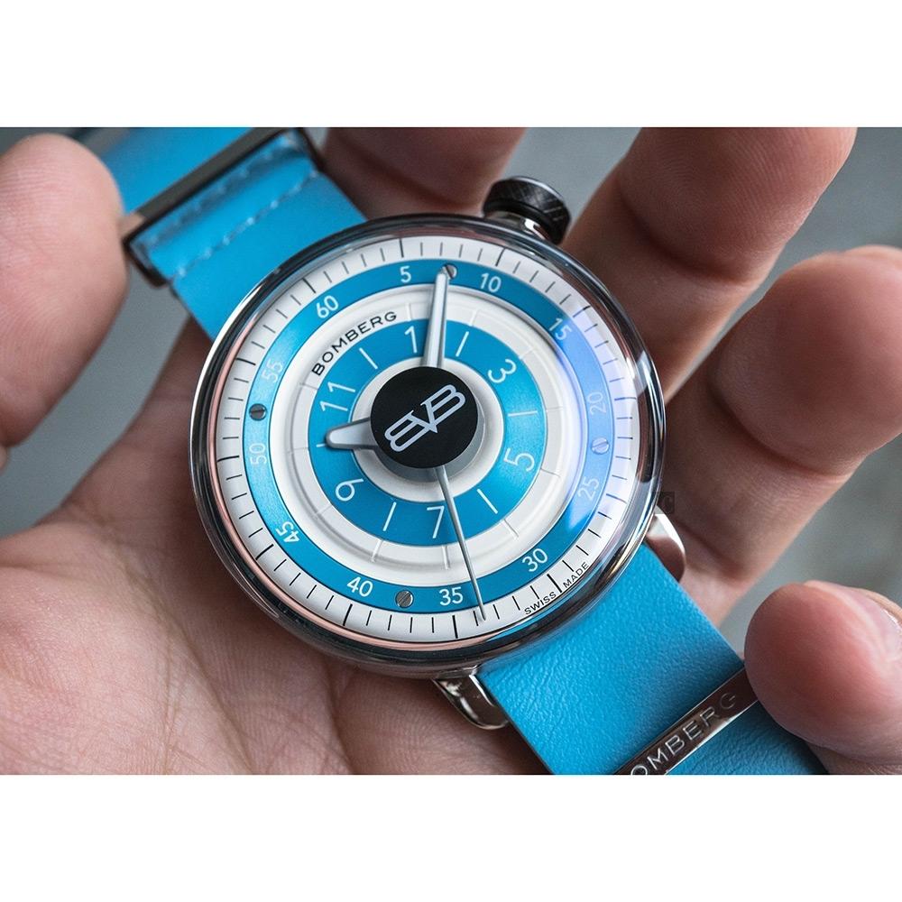 BOMBERG 炸彈錶 BB-01 紳士手錶(CT43H3SS.14-1.9)-藍/43mm