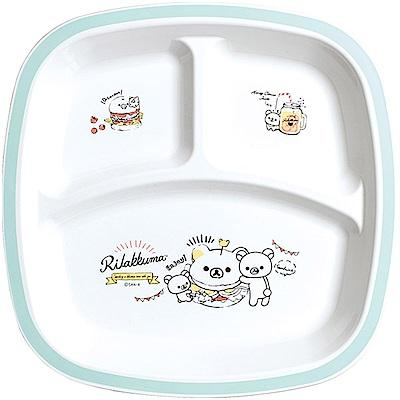 拉拉熊洋食漢堡店系列微波餐盤。藍 San-X