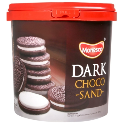 PT MONDE 桶裝濃郁巧克力風味夾心餅乾(400g)