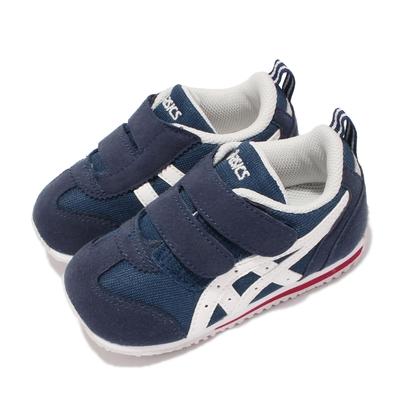 Asics 休閒鞋 Idaho Baby JP 童鞋 亞瑟士 魔鬼氈 麂皮 日本布料 小童 藍 白 TUB1645001