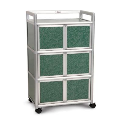 Cabini小飛象-花崗綠2.0尺鋁合金6門收納櫃64.7x50.8x115.3cm