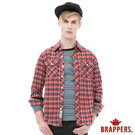 BRAPPERS 男款 男用雙口袋剪接條絨襯衫-桔