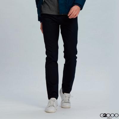G2000斜紋休閒斜袋長褲-深藍色