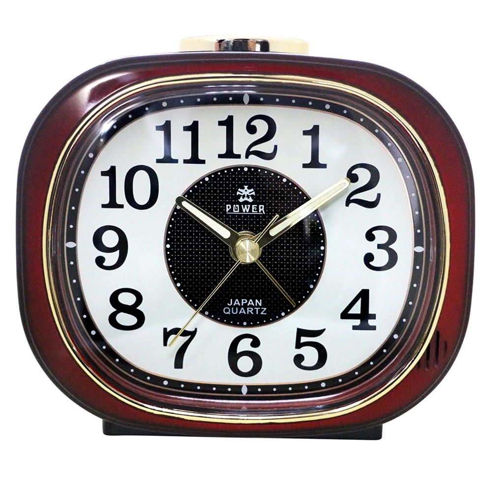 POWER霸王鐘錶-復古鬧鐘-酒紅色-PA626R-12CM