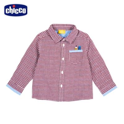chicco-快樂學園-細格紋長袖襯衫