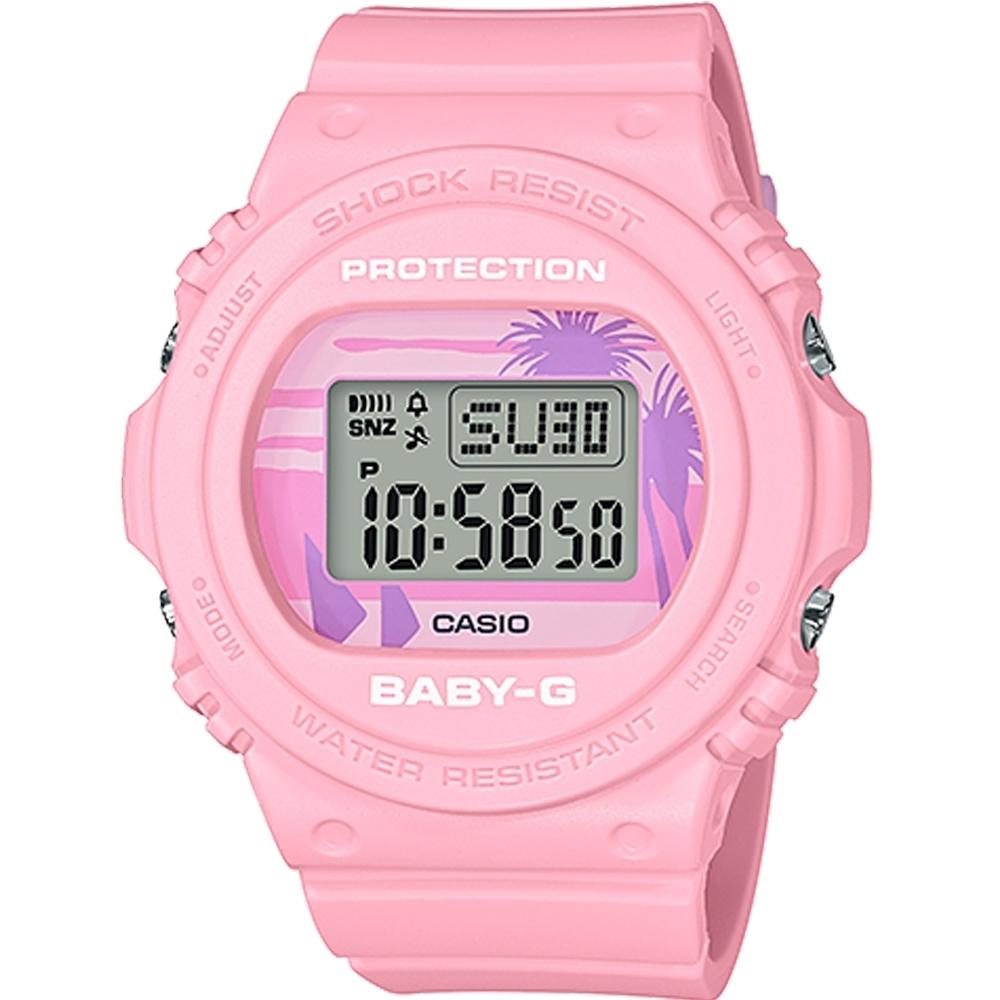 CASIO BABY-G 復古美國西海岸風情休閒錶-粉(BGD-570BC-4)/43mm