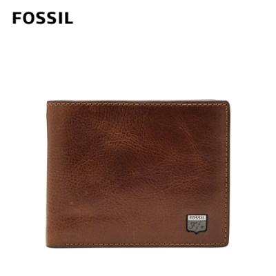 FOSSIL Jesse 真皮證件格零錢袋皮夾-干邑色 ML4310222