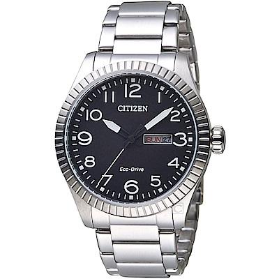 CITIZEN 星辰 GET S復古時尚光動能限量腕錶(BM8530-89E)-灰黑色