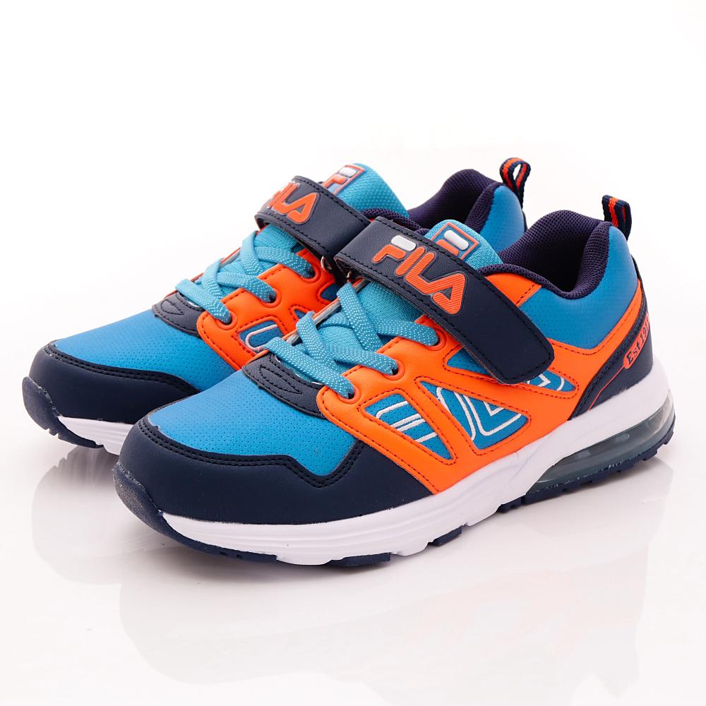 FILA頂級童鞋款 MD輕量慢跑款 FO10R-366藍橘(中大童段)0