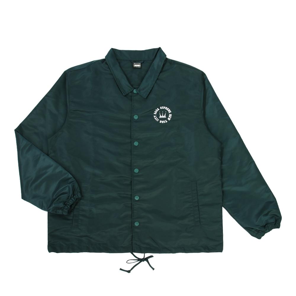 【DADA SUPREME】KINGS-EMBROIDERY LOGO中性刺繡教練外套-藍綠