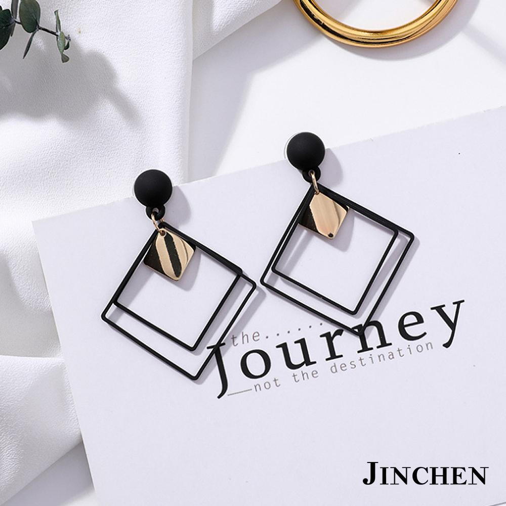 JINCHEN 合金方形耳環 product image 1