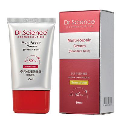 【寶齡醫美】Dr. Science賽因斯多元修護防曬霜 SPF50 PA+++-<b>5</b>入