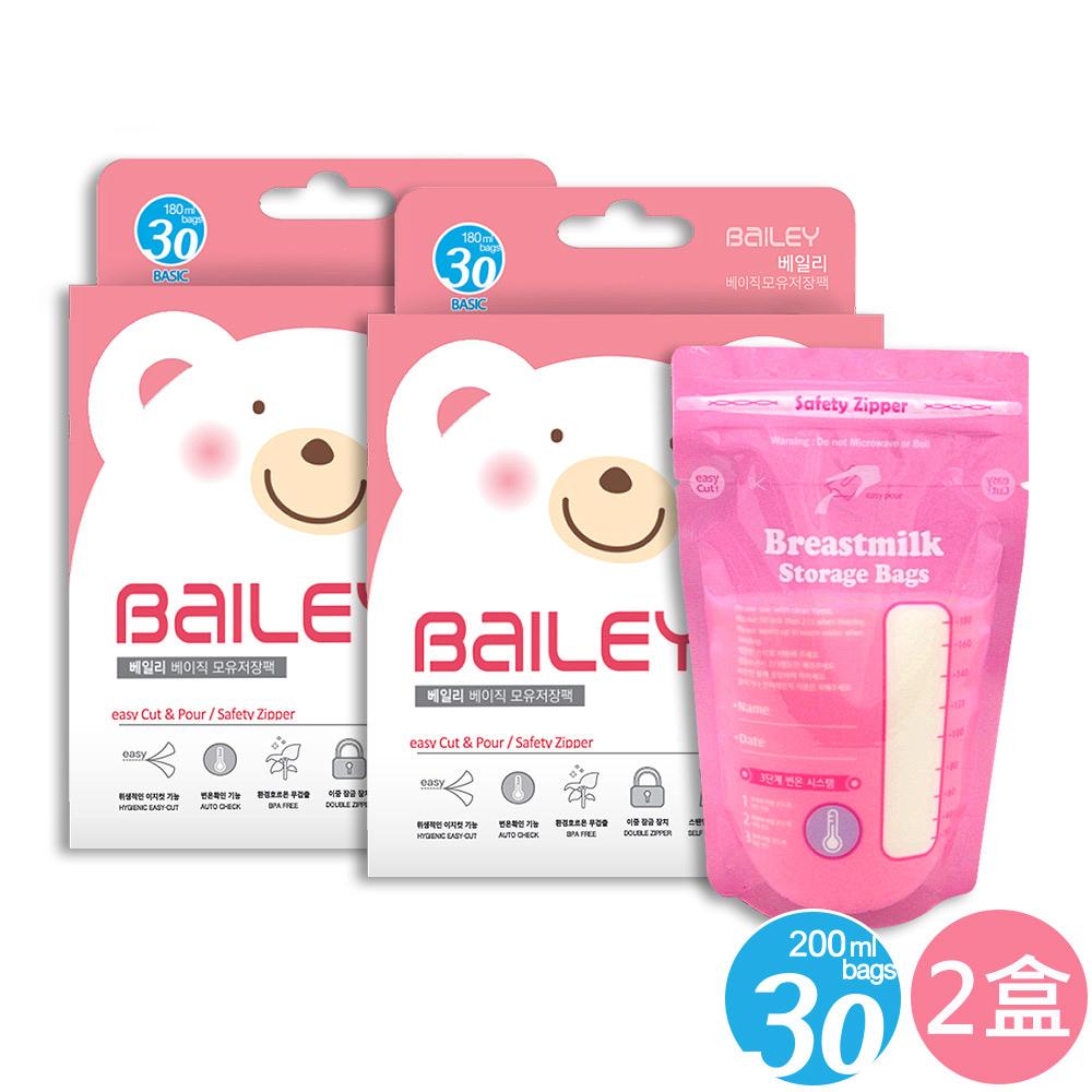 韓國BAILEY貝睿 感溫母乳儲存袋-基本型30入(2盒) @ Y!購物