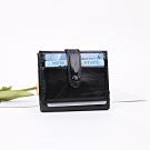 Valentino Rudy 個性油臘皮智慧錢包皮夾卡夾-黑色 VR-LU1134