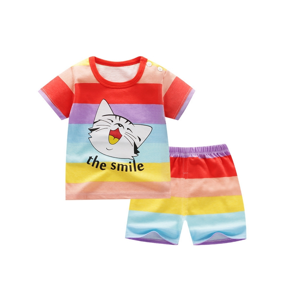 Baby童衣 兒童套裝 純棉短袖短褲兩件套家居服 88330