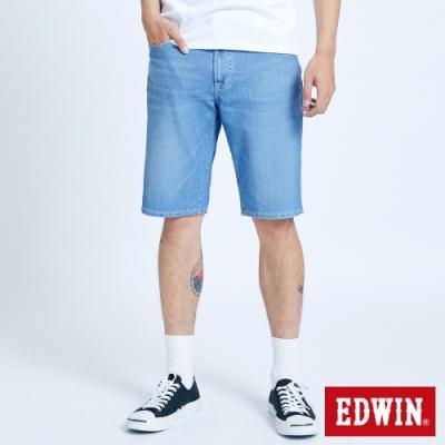 EDWIN JERSEYS 迦績 EJ3 透氣復古牛仔短褲-男-重漂藍