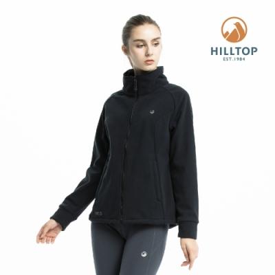 【hilltop山頂鳥】女款WINDSTOPPER保暖刷毛外套H22FV4黑美人