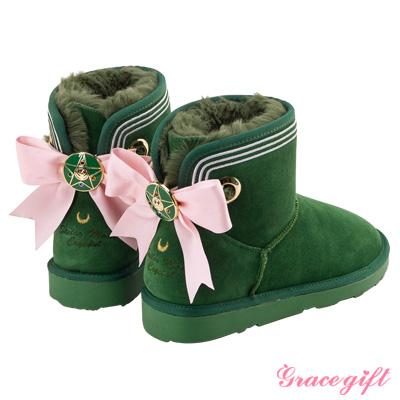 Grace gift-美少女戰士蝴蝶結變身器雪靴 綠