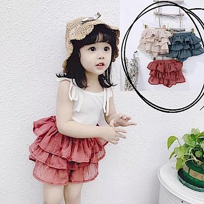 小衣衫童裝  中小童清甜透氣棉紗蛋糕裙短褲1080311