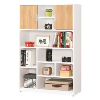Bernice-貝爾3尺開放式書櫃/置物櫃-左右向可選-91x36.5x139cm