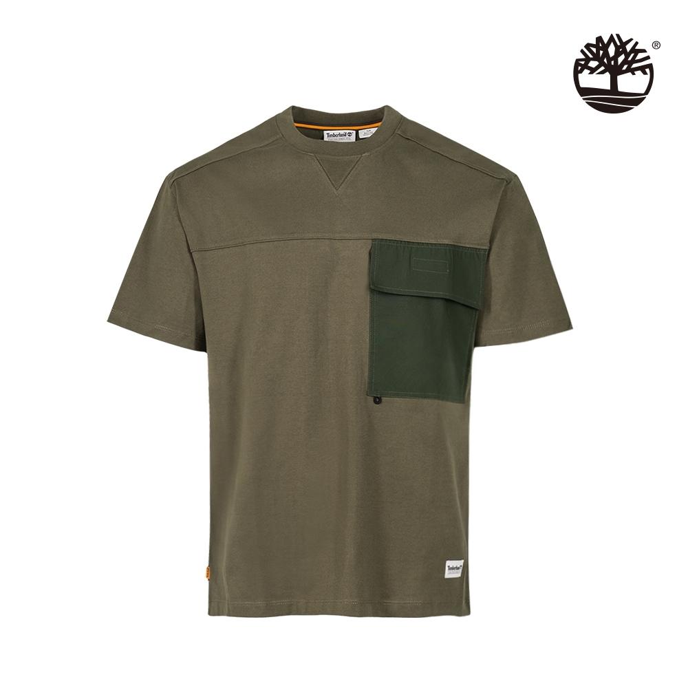 Timberland 男款軍綠色抗菌寬鬆短袖T恤|A2FFX