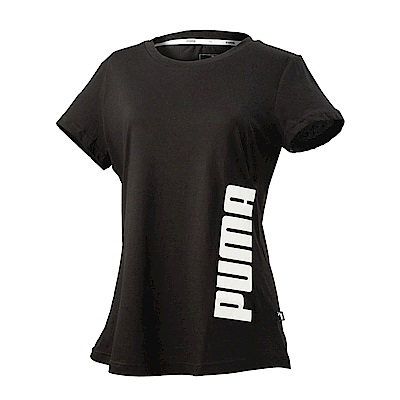 PUMA-女性基本系列Summer印花短袖T恤-黑色-亞規