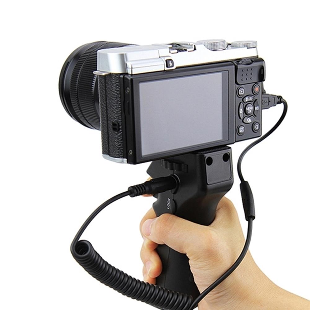 JJC攝影槍把快門手把手柄握柄HR+Cable-R(更好握持)相容富士Fujifilm快門線RR-90快門線 適攝錄影.拍照