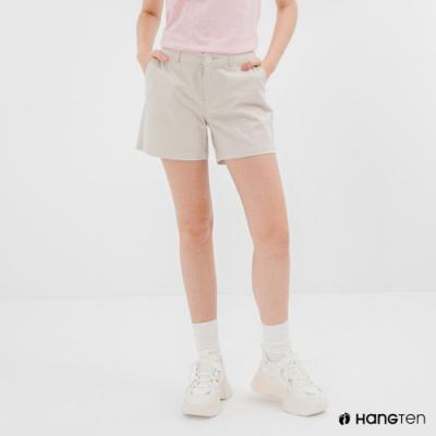 Hang Ten-女裝-REGULAR FIT經典短褲-灰白色