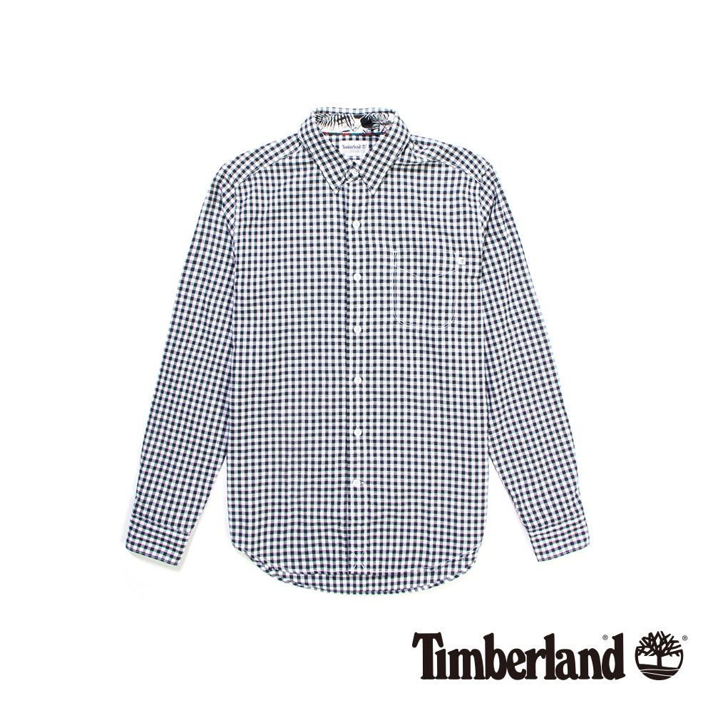 Timberland 男款黑色Still River格子長袖襯衫