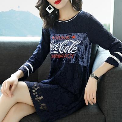 【韓國K.W.】歐美名模蕾絲繡花裝