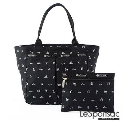 LeSportsac - Standard手提水餃包-附化妝包(印章圖騰)