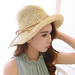 米蘭精品 草帽防曬遮陽漁夫帽-夏季戶外可折疊勾針女帽子母親節禮物73rp118