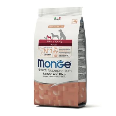 Monge瑪恩吉 天然呵護 小型成犬糧(鮭魚+米)800g 2包