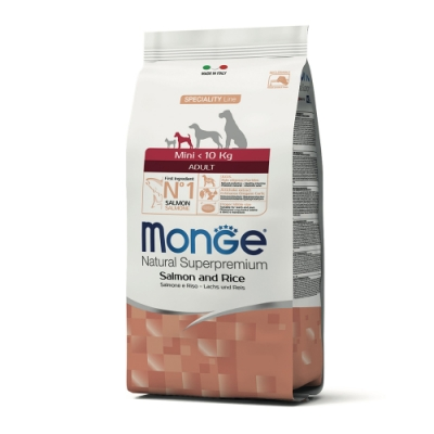 Monge瑪恩吉 天然呵護 小型成犬糧(鮭魚+米)2.5kg