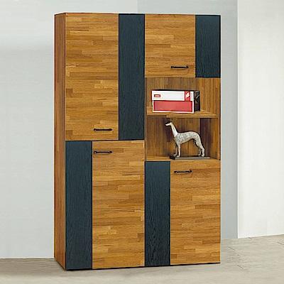 Bernice-斯亞4尺工業風高鞋櫃組合-120x32x182cm