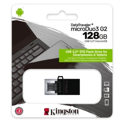 金士頓 DTDUO3G2/128GB microUSB 128G USB 3.0 OTG 隨身碟