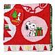 SNOOPY史努比 聖誕派對 小方巾(A款-紅色) product thumbnail 1