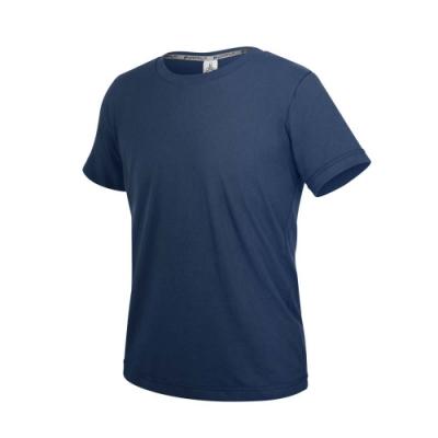 HODARLA ZERO DRY男機能排汗棉短袖T恤-台灣製 抗UV 反光 上衣 慢跑 3158405 丈青