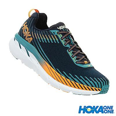 HOKA ONE ONE 男 Clifton 5 路跑鞋 科技網布 黑藍
