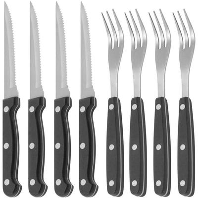 KitchenCraft 鋸齒牛排刀叉8件組
