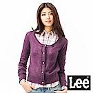 Lee 時尚圓領開襟毛衣
