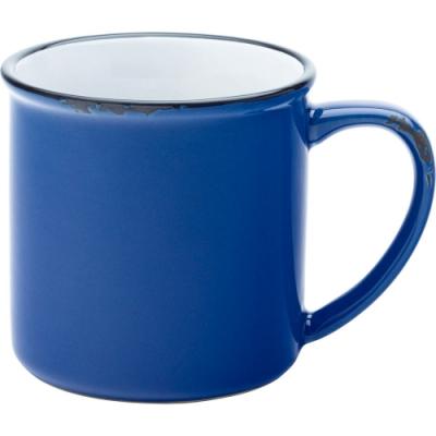 《Utopia》復古石陶馬克杯(藍280ml)