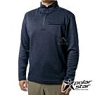 PolarStar 男 立領拉鍊保暖衣『深藍』P19265
