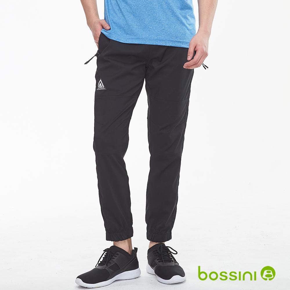 bossini男裝-休閒彈性束口褲01黑