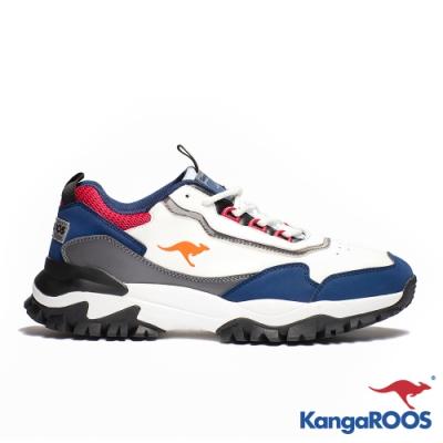 KANGAROOS 男 NEON 越野老爹鞋(白/深藍)