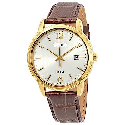 (時時樂)SEIKO 雅痞都會風石英腕錶(SUR266P1)-白/41mm
