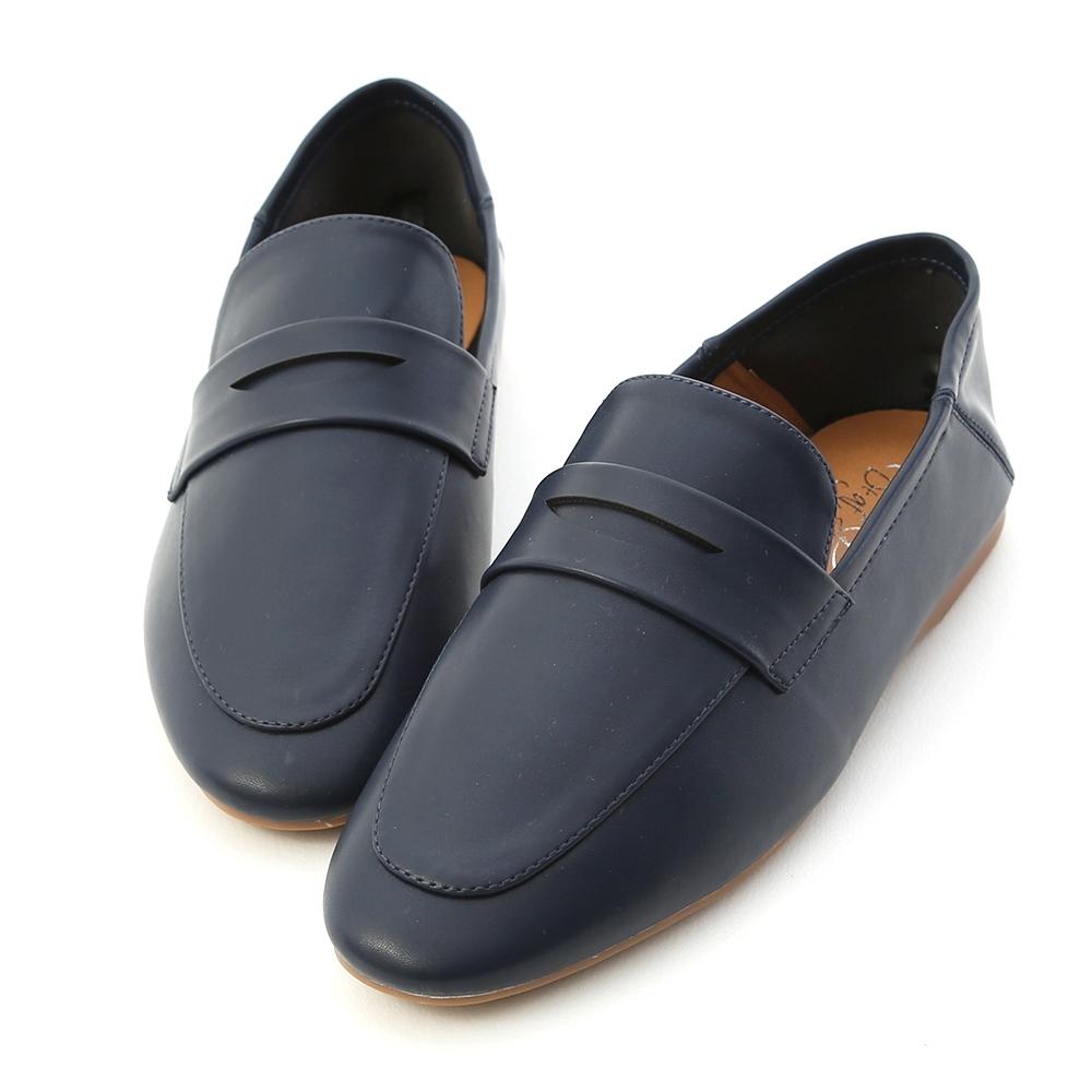 D+AF 日常印象.經典款可後踩樂福鞋*藍