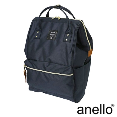 anello 經典口金後背包基本款 深藍 Large