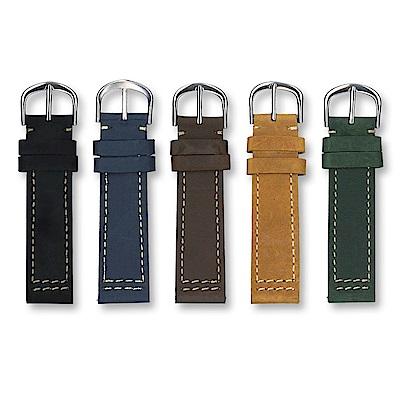 PARNIS BOX│瘋馬皮真皮錶帶。5色 LN