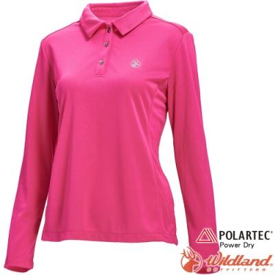 Wildland 荒野 P1607-09桃紅色 女POLARTEC長袖功能衣